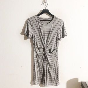 NWOT T-shirt dress with twist front